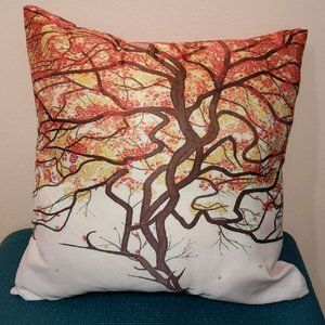 Tree of life deer antlers pillow cover Brand New